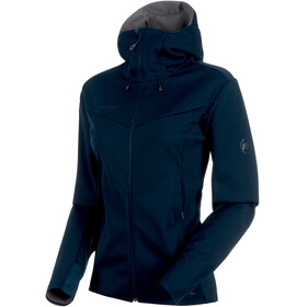 Mammut Ultimate V SO Hooded Jacket Women marine-titanium melange